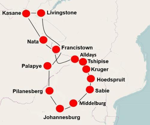 camperreis zuid-afrika botswana victoria falls vanaf johannesburg 011.png
