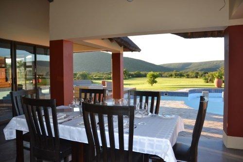 Parkview Lodge eetkamer met uitzicht
