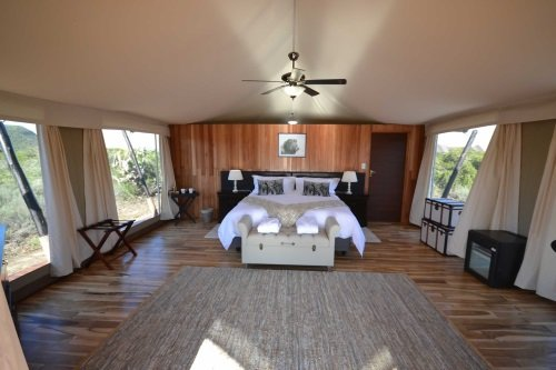 Parkview Lodge tent van binnen
