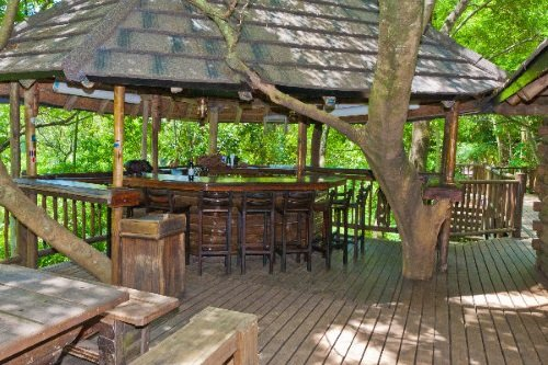 Greenfire Lodge Hazyview buiten bar zitgelegenheid