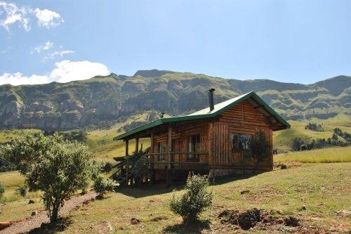 Greenfire Lodge Drakensberg blokhut buitenkant