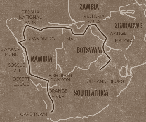 groepsreis zuidelijke Afrika Op avontuur door Namibië, Botswana & Zimbabwe