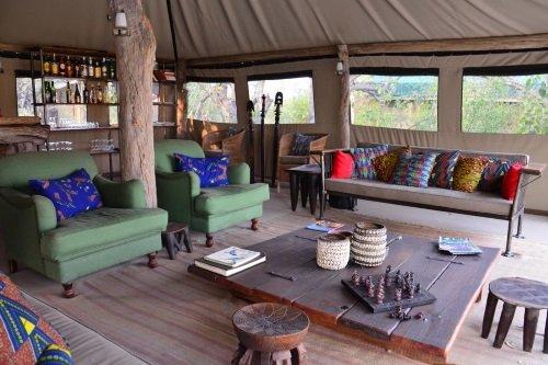 Sango Safari Camp gemeenschappelijke ruimte