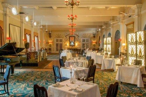 Victoria Falls Hotel restaurant