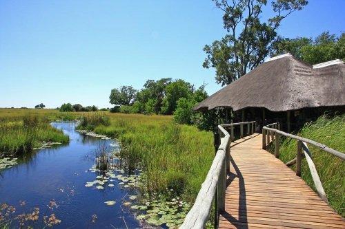 Kwando Lebala Camp verbindingsbrug