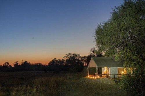 Machaba Camp tent avond