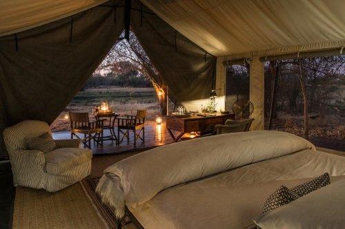 Machaba Camp tent binnen