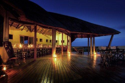 Kwando Tau Pan Camp avond diner